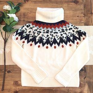 Veronica Beard Fair Isle Turtleneck Sweater